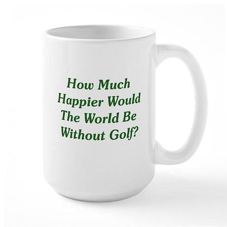 World Without Golf Large Mug