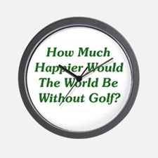 World Without Golf Wall Clock