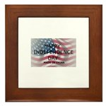 HAPPY INDEPENDENCE DAY MADE IN CHINA Framed Tile