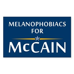 Melanophobiacs For McCain Rectangle Decal