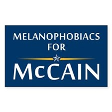 Melanophobiacs For McCain Rectangle Decal