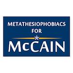 Metathesiophobiacs For McCain Rectangle Sticker