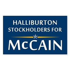 Halliburton Stockholders For McCain Decal