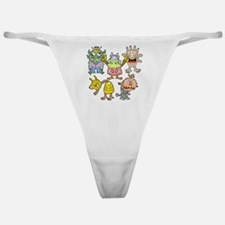 Funny Green alien Classic Thong