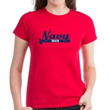 Collegiate Navy Mom II Tee