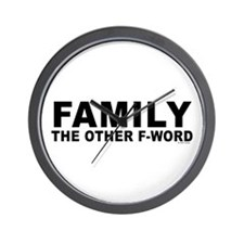 Family - The Other F-Word Wall Clock