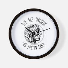 Walking on Indian Land Logo Wall Clock