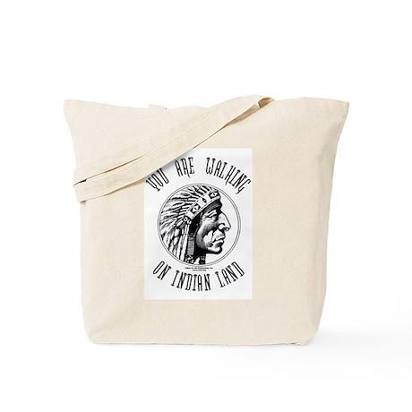 Walking on Indian Land Logo Tote Bag