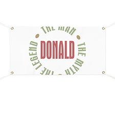 Donald Man Myth Legend Banner