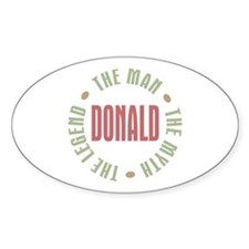 Donald Man Myth Legend Oval Decal