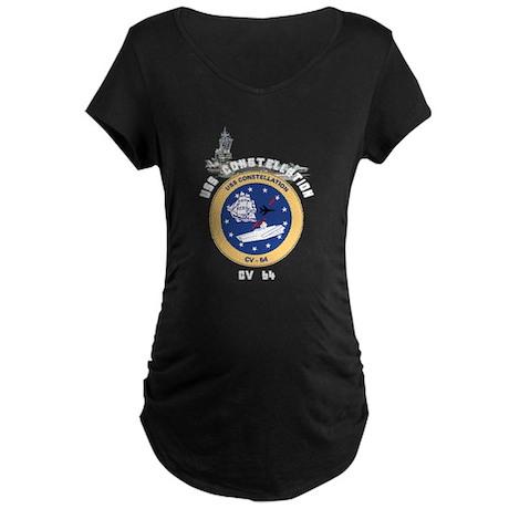 USS Constellation CV-64 Maternity Dark T-Shirt