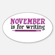 November is for Writing Oval Decal