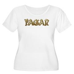 Gold Pagan Text T-Shirt