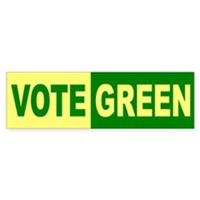 VOTE GREEN Bumper Bumper Sticker