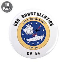 "USS Constellation CV-64 3.5"" Button (10 pack)"
