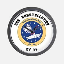 USS Constellation CV-64 Wall Clock