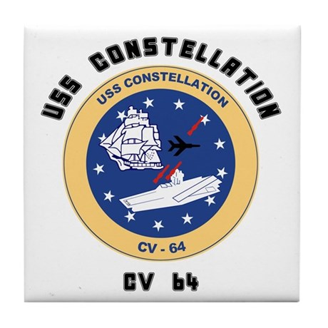 USS Constellation CV-64 Tile Coaster