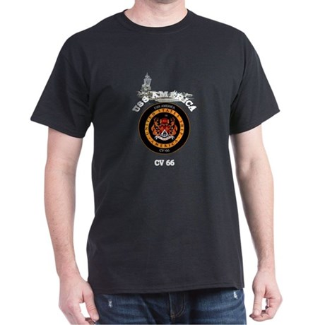 USS America CV-66 Dark T-Shirt