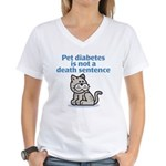 Pet Diabetes (Cat) Women's V-Neck T-Shirt