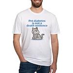 Pet Diabetes (Cat) Fitted T-Shirt
