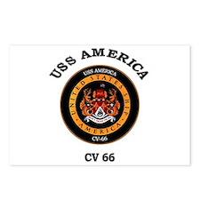 USS America CV-66 Postcards (Package of 8)