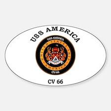 USS America CV-66 Oval Decal