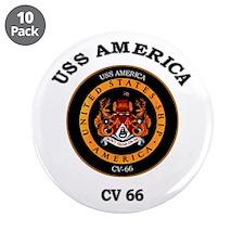 "USS America CV-66 3.5"" Button (10 pack)"