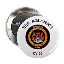 "USS America CV-66 2.25"" Button"