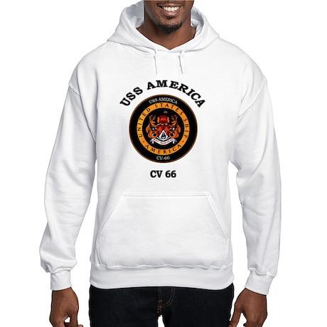 USS America CV-66 Hooded Sweatshirt