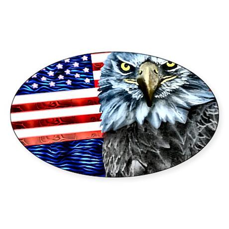 American Eagle USA- Oval Sticker