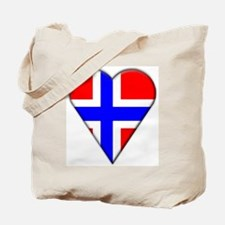 Norway Heart-Shaped Flag Tote Bag