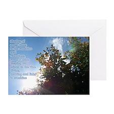 Unique Tree poem Greeting Card