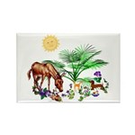 Animal Picnic Rectangle Magnet