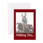 Weimaraner-Reindeer Christmas Cards (10ct.)
