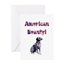 American Beauty Dalmation Greeting Card