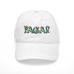 Turquoise Pagan Text Baseball Cap