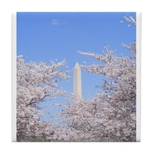Funny Washington monument Tile Coaster