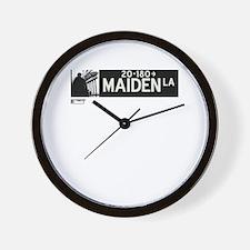 Maiden Lane in NY Wall Clock
