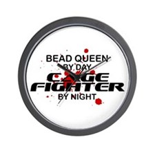 Bead Queen Cage Fighter by Night Wall Clock