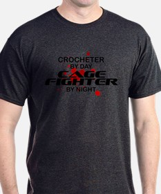 Crocheter Cage Fighter by Night T-Shirt
