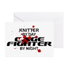 Knitter Cage Fighter by Night Greeting Cards (Pk o