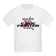 Quilter Cage Fighter by Night T-Shirt