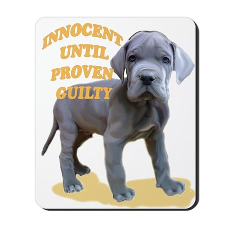 blue dane puppy Mousepad