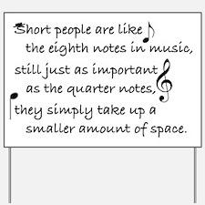Short Music Yard Sign