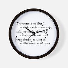 Short Music Wall Clock