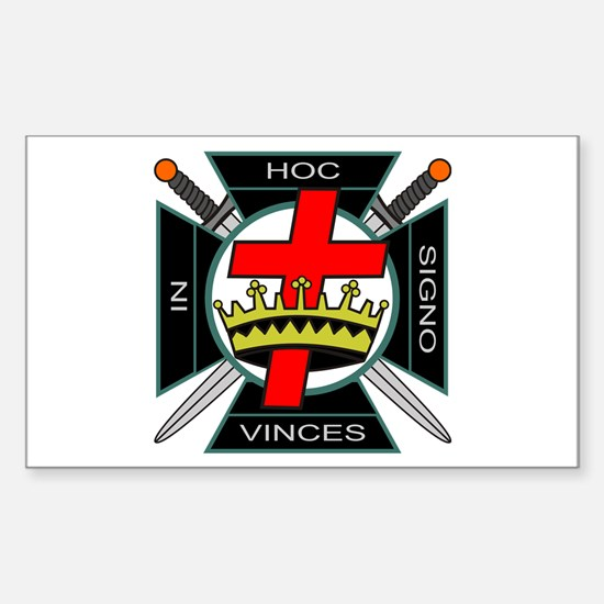 Knight of the Temple Rectangle Decal