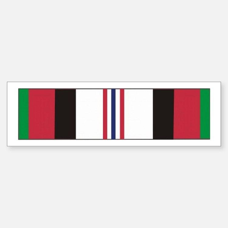 Afghanistan Campaign Ribbon Bumper Bumper Bumper Sticker