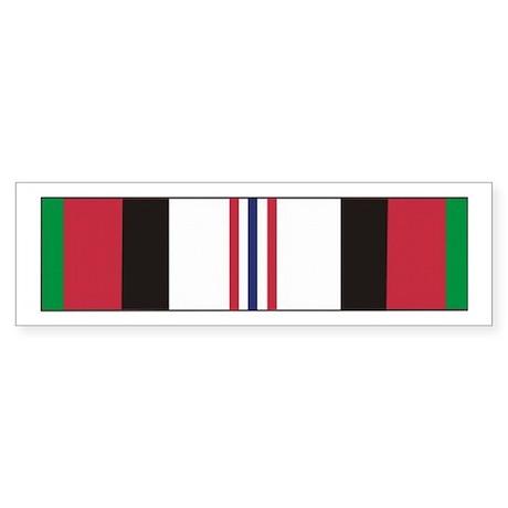 Afghanistan Campaign Ribbon Bumper Sticker