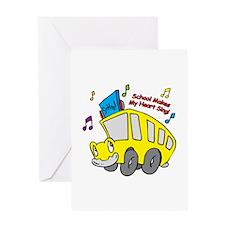 School Heart Sing Greeting Card