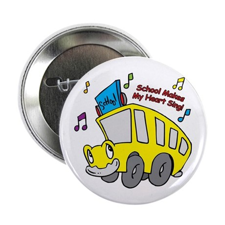 "School Heart Sing 2.25"" Button (10 pack)"